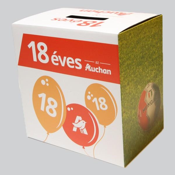 Szelvénygyűjtő doboz, Auchan